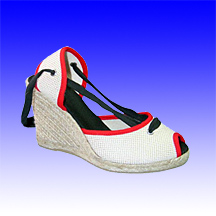 High Wedge Fashion Espadrilles (Alpargata) Made of Jute Rope Sole for Women
